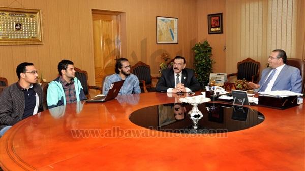 : رئيس جامعة المنصورة يجتمع بفريق  Formula Student