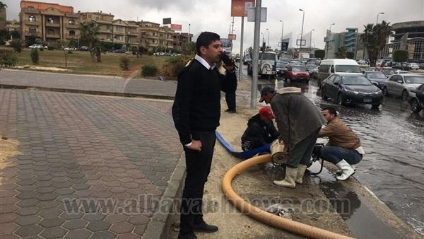 البوابة نيوز: بالصور.. تعرف على أبرز مناطق تجمعات مياه الأمطار في القاهرة