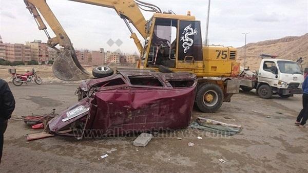 : بالصور.. إصابة 6 أطفال في حادث تصادم بطريق حي الأسمرات