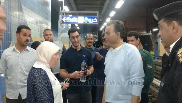 : وزير النقل يتفقد محطات مترو الأنفاق والطريق الدائري