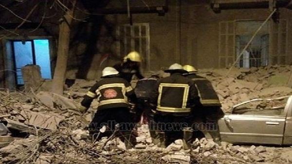 : أول وفاة في انهيار عقار جاردن سيتي