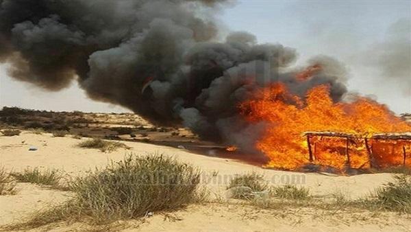 قبيلة الترابين: حرق ملاجئ وعشش داعش جنوب رفح