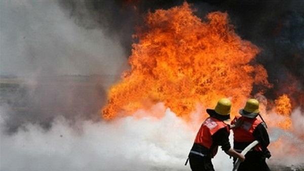 إخماد حريق شب في 4 منازل بقرية بكفر الشيخ ومصرع شخص