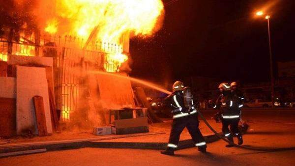 السيطرة على حريق شب بـ