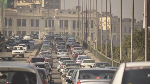 : كثافات مرورية بالقاهرة والجيزة