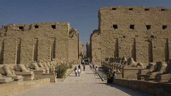 : إقبال محدود على معبد الكرنك أول أيام عيد الفطر