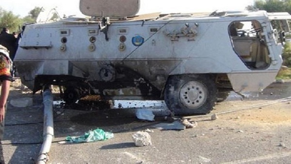 :  الإفتاء  تدين تفجير مدرعة بالعريش