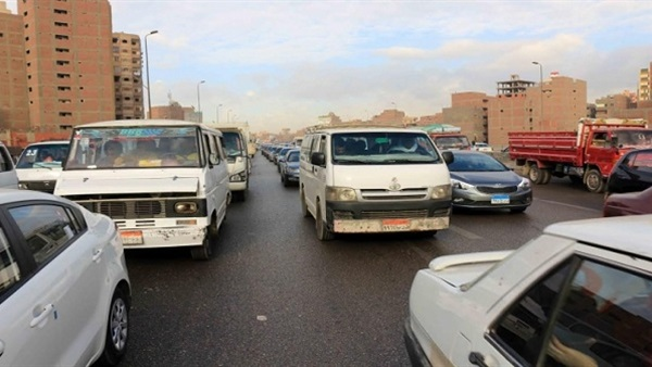 : توقف الحركة المرورية أعلى الطريق الدائري بسبب انقلاب سيارة
