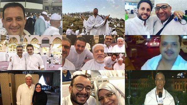 : بالصور.. 10 مشاهير مصريون يؤدون فريضة الحج