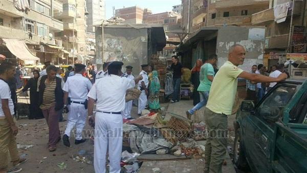 : بالصور.. حملة لمدير أمن الإسكندرية لإزالة الباعة الجائلين بالمعهد الديني