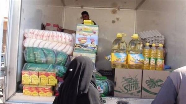 : مساعدات غذائية وإنسانية لقرية الروضة من التموين