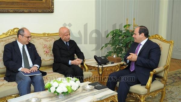 : السيسي يبحث الملف الليبي مع وزير داخلية إيطاليا