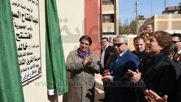 : بالصور.. افتتاح مدرسة  الثانوية بنات  بالشرقية
