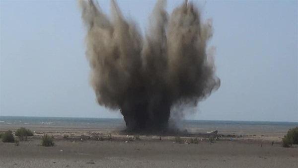 : مصدر عسكري يمني: تفجير ألغام بحرية زرعها الحوثيون قبالة ميدي
