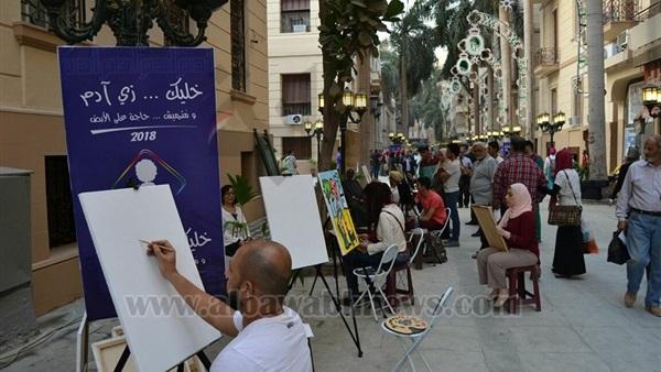 : التنسيق الحضاري: شارع الشريفين المرحلة الأولى من تطوير مثلث البورصة
