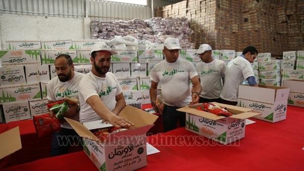 :  الأورمان  توزع 10 آلاف كرتونة مواد غذائية على غير القادرين بقرى أسوان