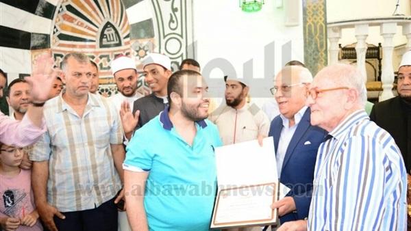 : بالصور.. محافظ بورسعيد يوزع جوائز مسابقة حفظة القرآن الكريم