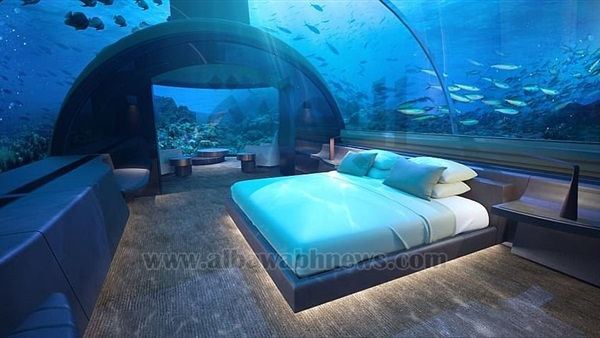 : بالصور.. افتتاح أكبر فندق بالمالديف تحت الماء