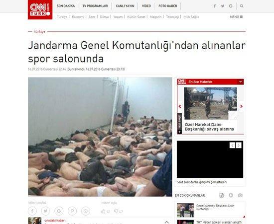 """قناة تركية تنشر صورة """"مهينة"""" لعسكريين اعتقلتهم الشرطة 610"""