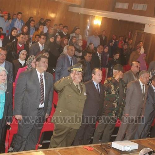 : بالصور.. محافظ دمياط يحضر حفل تكريم طلبة المدارس العسكرية