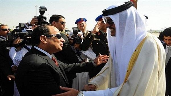 """أمير قطر يهنئ """" الرئيس السيسي"""" هاتفيًا بمناسبة عيد الفطر 811"""