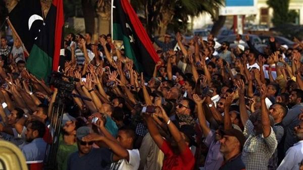 تظاهرات ليبية تطالب بطرد المبعوث الاممى و تدخل مصر لإنهاء الأزمة 676