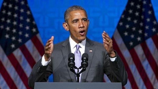 بث مباشر.. أوباما يلقي خطاب الوداع من شيكاغو