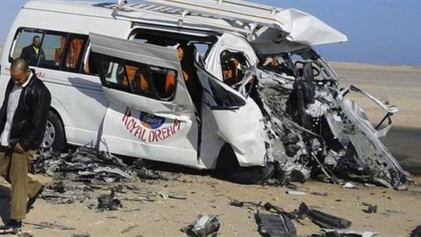 """إصابة 4 أشخاص في انقلاب سيارة بطريق """"إسكندرية ــ مطروح"""""""