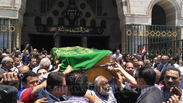 وصول جثمان صفاء حجازي للسيدة نفيسة