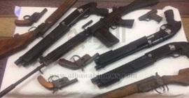ضبط 6 قطع سلاح و28 طلقة نارية خلال حملة أمنية بالمنيا