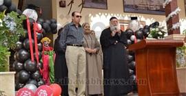 بالصور.. أجواء احتفالية في استقبال طلاب المدارس الخاصة ببورسعيد