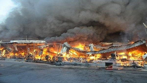 حريق هائل بمزرعة دواجن غير مرخصة بمركز دارالسلام دون إصابات بشرية