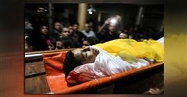 تشييع جثمان شهيد فلسطينى فى أحداث جمعة الأسرى