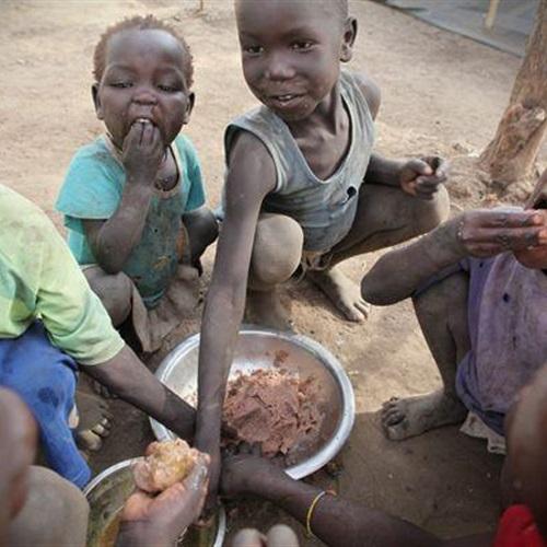 ثري نيوز خطر المجاعة يهدد حياة أطفال جنوب السودان