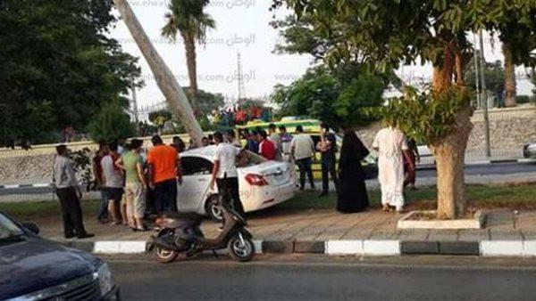إصابة 4 اشخاص من أسرة واحدة بحادث تصادم بدائري الفيوم