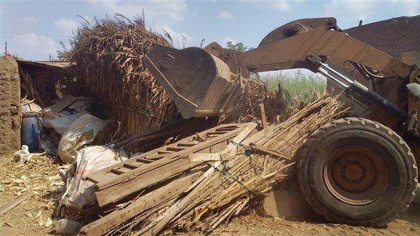 إزالة 188 حالة تعد على الأراضى الزراعية منذ بدء الموجة الـ18 بالمنوفية