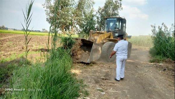 إزالة 121 حالة تعدي على الأراضي الزراعية بالشرقية