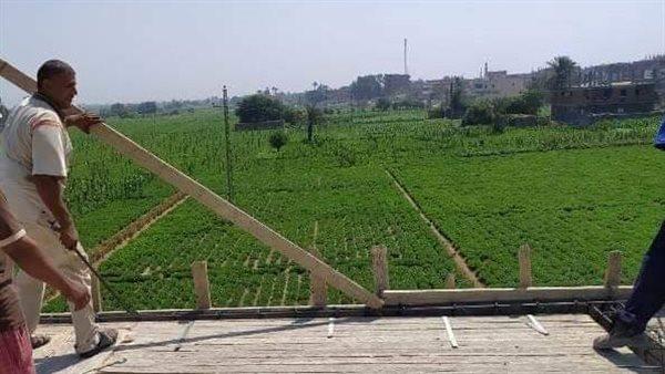 وقف 8 حالات إنشاء وبناء مخالف على الأراضي الزراعية بالغربية