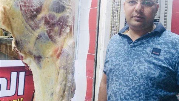 ضبط 130 كيلو لحوم مذبوحة خارج السلخانة فى حملة تموينية بنبروة