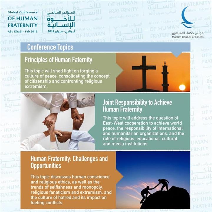 """محاور مؤتمر """"الأخوة الإنسانية"""" لحكماء المسلمين بالإمارات"""