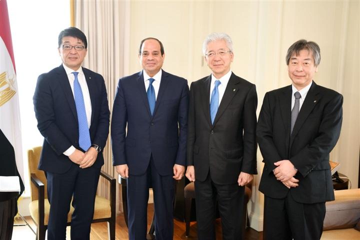 السيسي: اليابان شريك استراتيجي لمصر.. ونمتلك الإمكانات اللازمة لكافة الصناعات