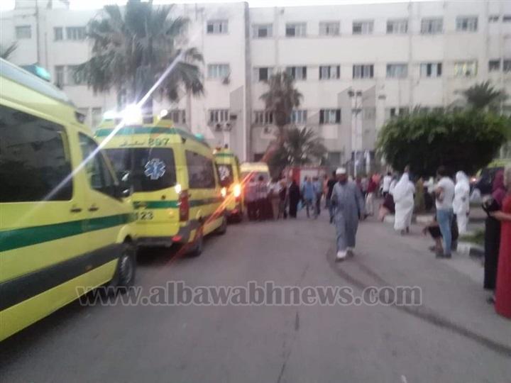 15 سيارة إطفاء وإسعاف لإخماد حريق مستشفى الشاطبي بالإسكندرية