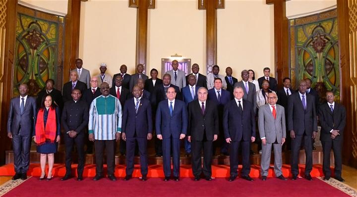 بالصور.. تفاصيل لقاء السيسي مع رؤساء المحاكم الدستورية والعليا الأفارقة