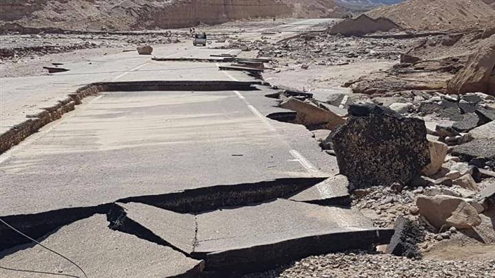 البوابة نيوز انهيار منحنيات أبوزنيمة بجنوب سيناء بسبب السيول