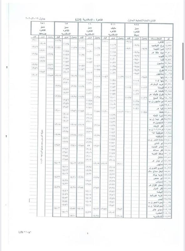 """السكك الحديدية تعدل جداول قطارات خط """"القاهرة - الإسكندرية"""""""