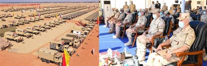 رئيس الأركان يشهد المرحلة الأولى لإجراءات تفتيش الحرب لأحد تشكيلات الجيش الثالث