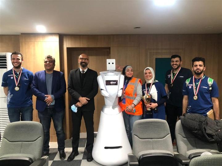 فوز فريق هندسة المنصورة بالمركز الأول ببطولة الروبوت