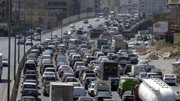 : كثافات مرورية مرتفعة في شوارع وميادين القاهرة والجيزة