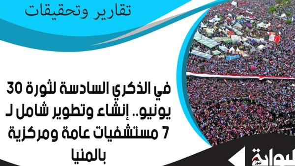 606b6eefb البوابة نيوز: في الذكرى السادسة لثورة 30 يونيو.. إنشاء وتطوير شامل ...