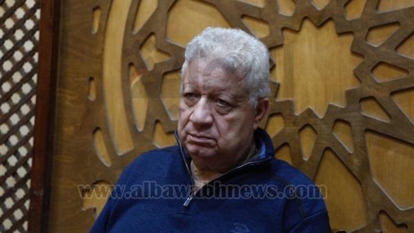 البوابة نيوز بالصور مرتضى منصور في عزاء علاء علي بمسجد